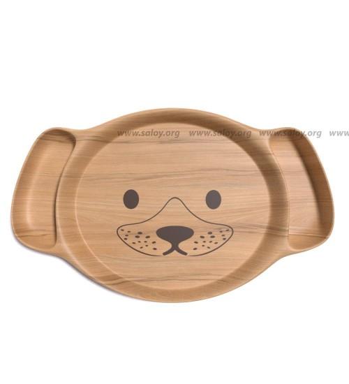 """Детская деревянная тарелка """"Щенок"""" Ds-015"""