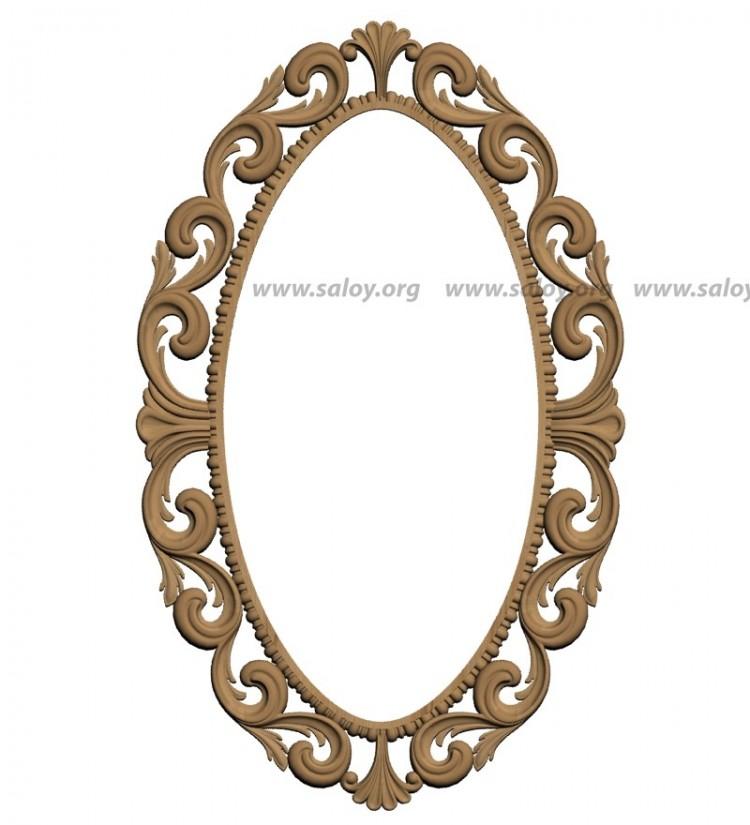Рама на овальное зеркало своими руками