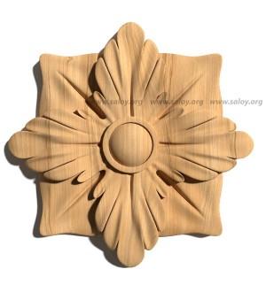 Декоративная розетка из дерева Rz-071