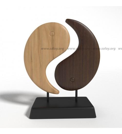 Деревянный декор Инь и Ян